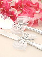 Enchanting Dragonfly Wedding Cake Server Set
