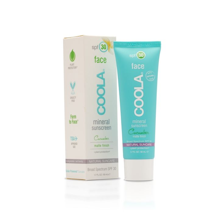 #Coola Mineral #Cucumber #Face #Matte SPF 30 è un prodotto #naturale unico che dona una straordinaria finitura #matt vellutata - la sua corretta applicazione garantisce un effetto cashmere - arricchito da una formula in grado di contrastare i #batteri. Naturalmente privo di #conservanti e super #resistente all' #acqua, la #crema e' arricchita con ingredienti che incrementano la #protezione SPF ad ampio spettro #UVA #UVB. Ideale da utilizzare come #primer nel #makeup