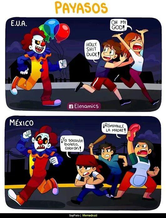Payasos en Latinoamérica