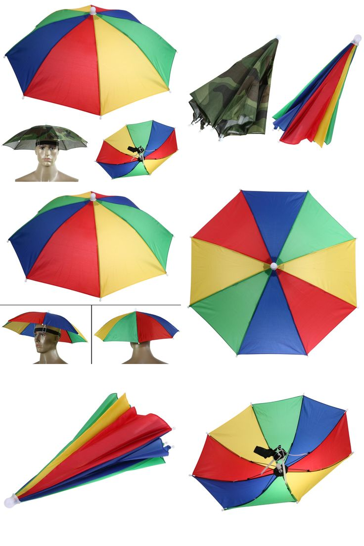 [Visit to Buy]  New Product Usefull 2 Color Umbrella Hat Sun Shade Camping Fishing Hiking Festivals Outdoor Brolly Free Shipping #Advertisement