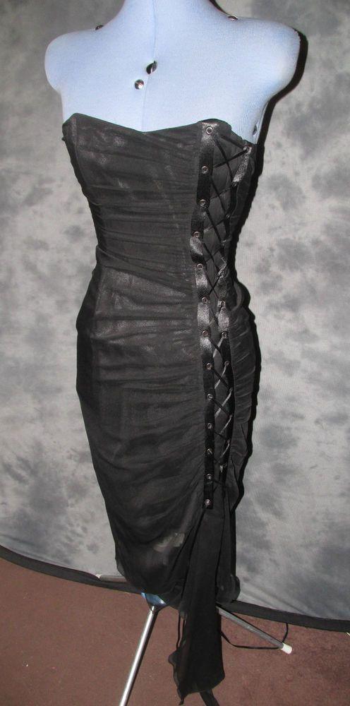 Charas Designer,.ladies,size 8.black,no pattern,bandeau,calf lth,Cocktail,Dress