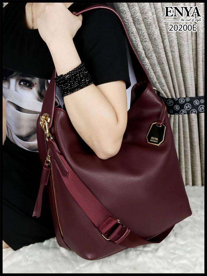 Harga   255.000 ENYA Maya Hobo Grained Swing the Season with Maya Handbags Smooth  Leather like Ori Hardware Gold 20200E (04) Uk. 30x32x14cm Berat 1.1kg ... f7632cd862