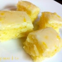 Lemony Lemon Brownies - Very yummy I halved the frosting recipe as I don't like things super sweet.
