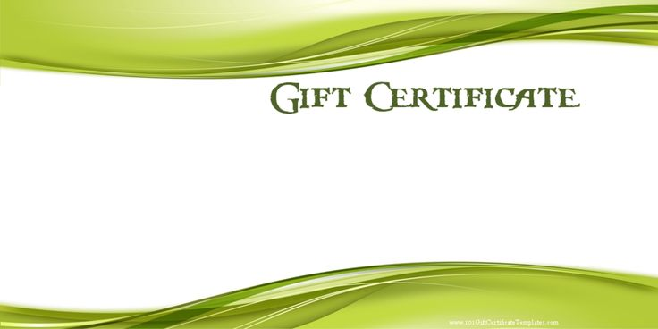 Here is a collection of 10 free gift certificate templates that you can download and use latest version of ms word to edit them suit your purpose. Description from downloadtemplates.us. I searched for this on bing.com/images