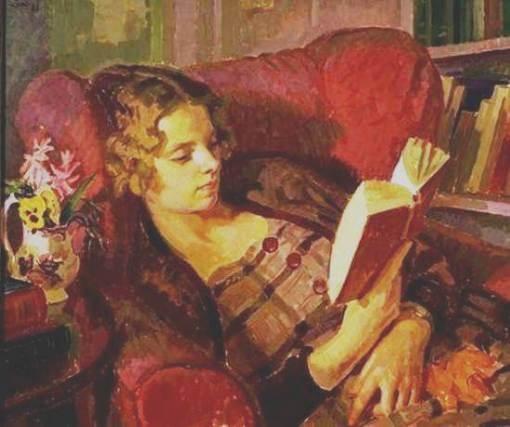 Portrair of the Artist's Wife, 1933  [writer Lady Pansy Pakenham]  Henry Lamb (UK, 1880-1963)