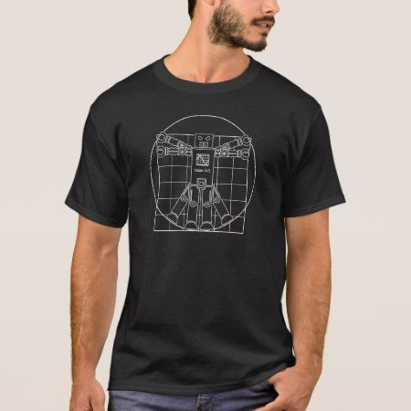 Da Vinci Vitruvian Robot T-Shirt - click/tap to personalize and buy