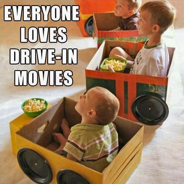 why not after all the party games, snacking time, birthday song and cake and present opening. you crack out the popcorn and those great inexpensive cardboard box cars you cleverly made and line them up in the lounge in front of  the telly for a fun make-believe drive-in movies! and that way you and the adults are left in peace to have a coffee and clean up! And the kids are none the wiser its quite time. ;)