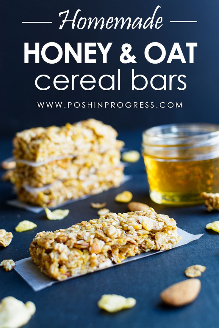 """My kids love """"Papa's cereal"""" - Honey Bunches of Oats, so I made these quick and easy homemade cereal bars. They loved them!"""