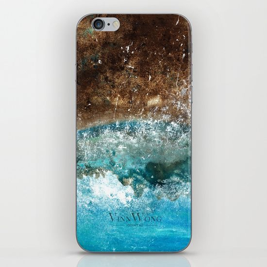 Dark blue and brown beach inspired abstract iPhone and iPod Skins by Vinn Wong | Full collection vinnwong.com | Visit the shop or Pin it For Later!