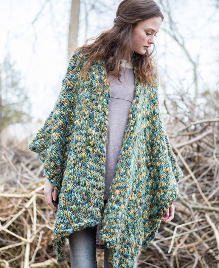 42 best poncho knitting patterns images on pinterest poncho forest floor poncho in berroco gusto poncho knitting patternsknitted malvernweather Choice Image