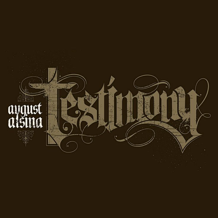 Custom hand-drawn typography for August Alsinau0026#39;s Def Jam project ...