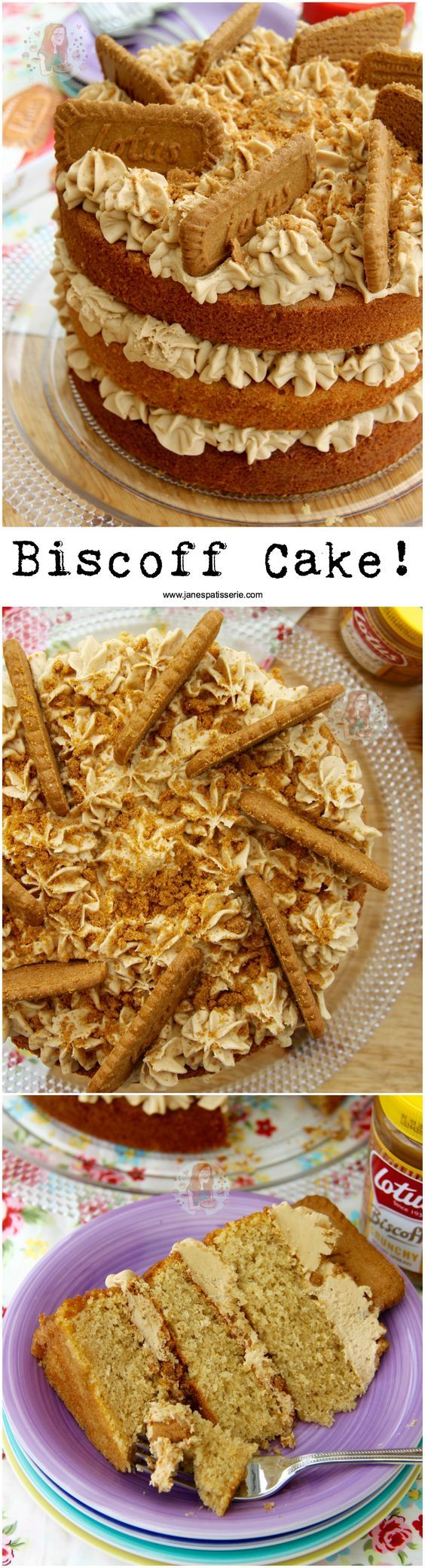 Biscoff Cake!! ❤️ A Delicious and Moist 3-layer Biscoff Cake with Lotus Biscuits! Perfect Spiced and Sweet cake for all Biscoff Lovers out there!