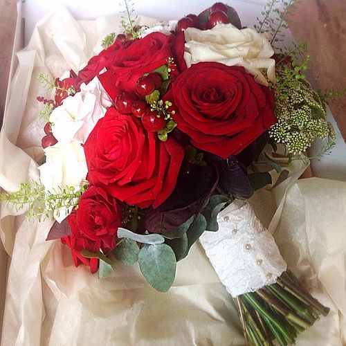 Artificial Wedding Bouquets Liverpool : Images about red white silver wedding ideas on