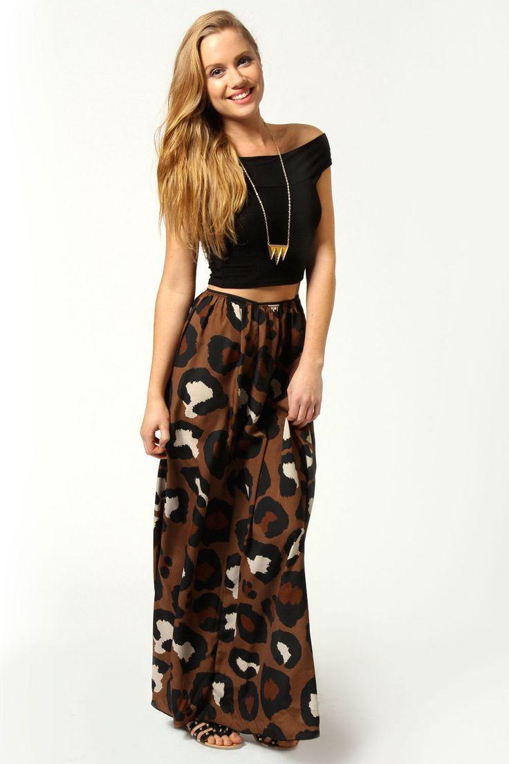 #boohoo                   #Skirt                    #Nicole #Oversized #Leopard #Crepe #Maxi #Skirt     Nicole Oversized Leopard Crepe Maxi Skirt                                     http://www.seapai.com/product.aspx?PID=427458