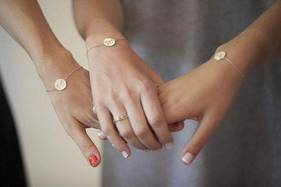 Freundschaftsbänder - 925 Silber Armband Wunschgravur - ein Designerstück von Aurelia-Pieces bei DaWanda