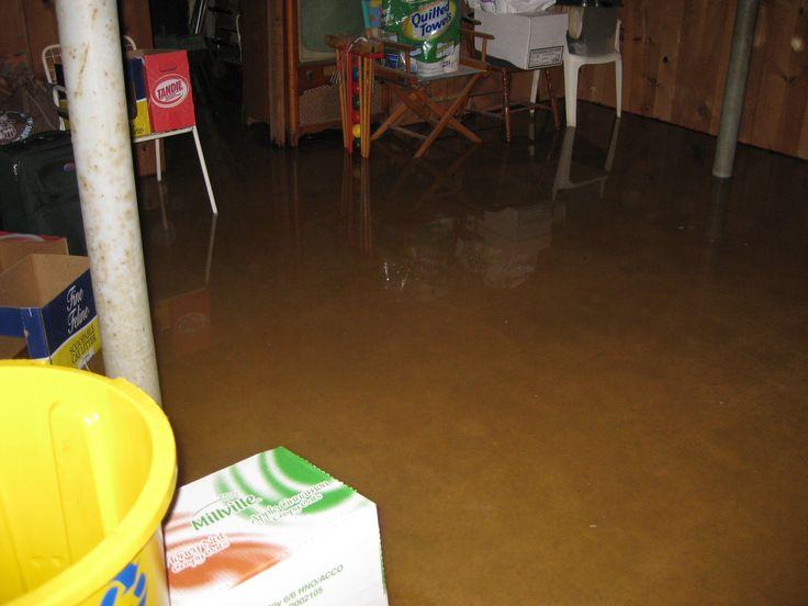 Basement basement flooding before closing with basement