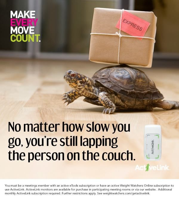 No matter how slow you go, you're still lapping the person on the couch.