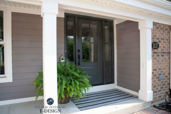 Kylie M Interiors Edesign Exterior Front Door Painted Sherwin