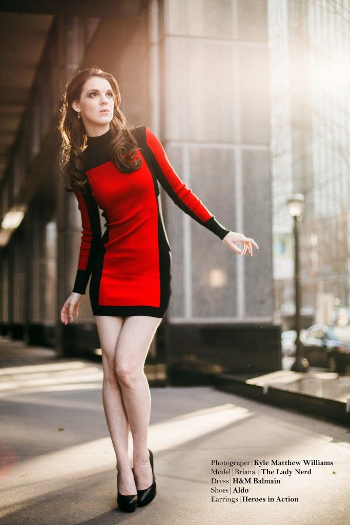 Outfit of the Week - a modernly-styled Star Trek dress. Great for a fashionable date or with tights, great for the office!