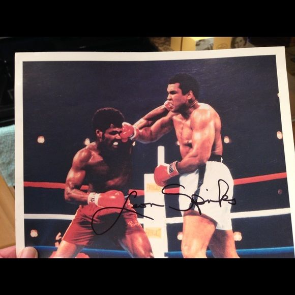 """Selling this """"Leon Spinks autograph 8x10 color photograph """" in my Poshmark closet! My username is: lisad352. #shopmycloset #poshmark #fashion #shopping #style #forsale #Leon Spinks #Accessories"""