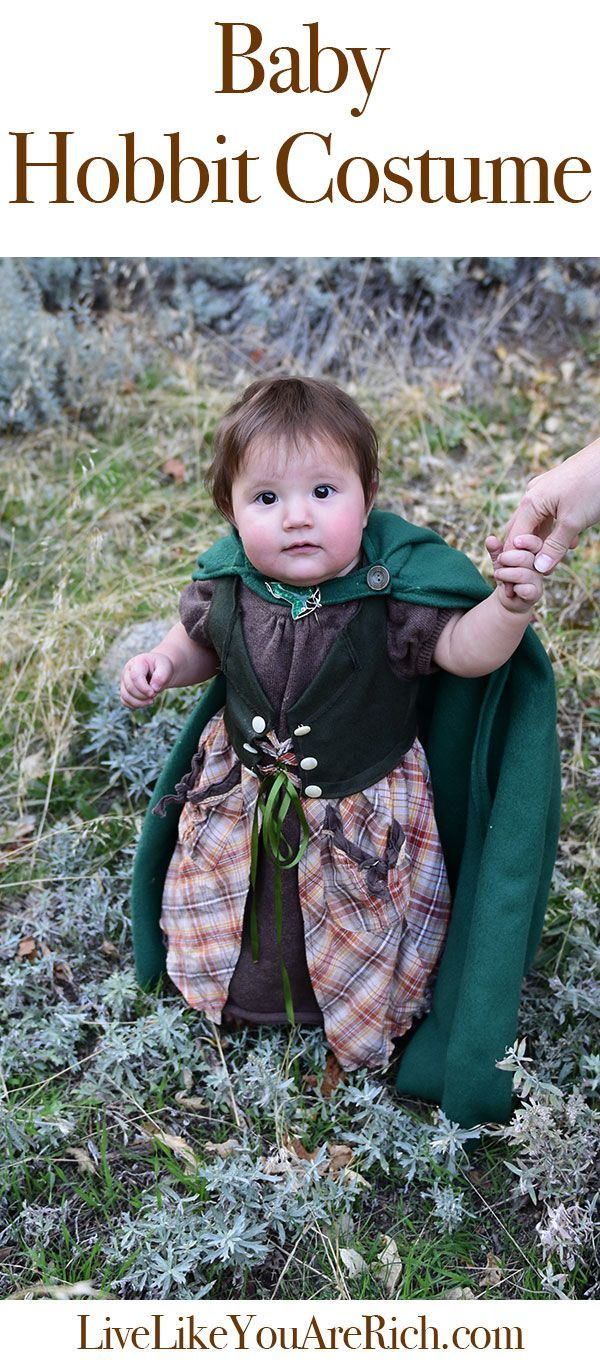 This is a homemade Hobbit costume for a baby girl. As a Lord of the Rings and Hobbit fan, it just makes me happy. baby hobbit costume   baby hobbit costume diy   baby hobbit costume children   baby hobbit costume lord of the rings