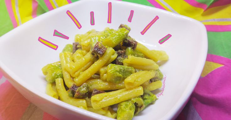RECIPE VEG - Pasta allo zafferano con asparagi e seitan fumè