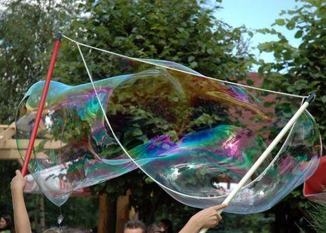 Riesenseifenblasen - riesige Seifenblasen selber machen