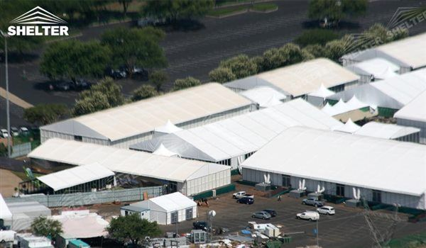 SHELTER industrial tent - temporary warehouse building - arch tent - arcum tents - large event marquee - wedding marquees for sale - 5