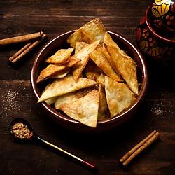 Healthy Cinnamon Sugar Tortilla Chips.