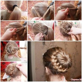DIY Weaving Braids Around The Tail - This only works if you have really long hair...