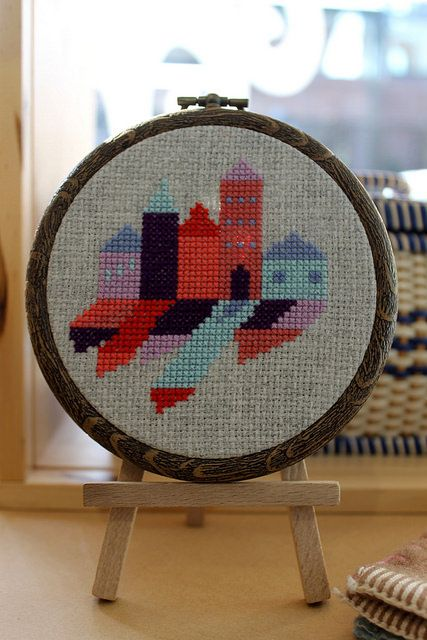 Safe as Houses by Shauna Scicluna Cross stitch