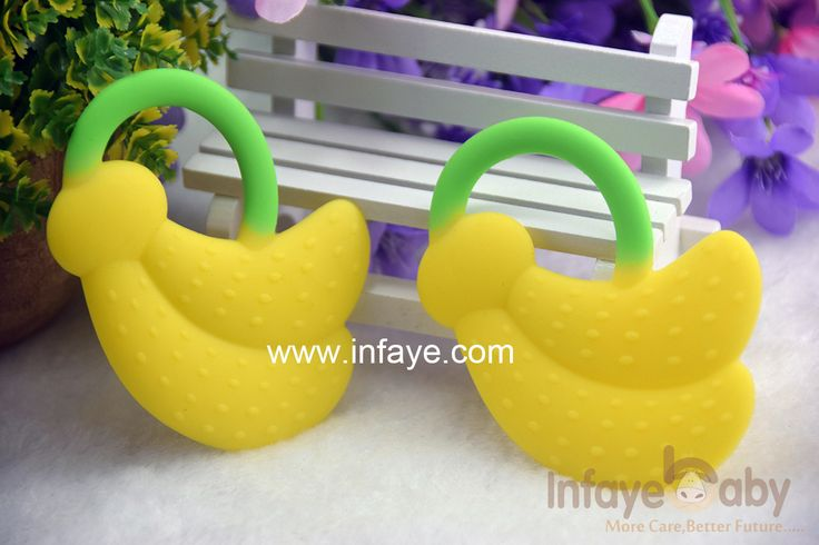 signs of baby teething and New Silicone Banana Toothbrush Environmentally Safe Baby Teether Teething Ring