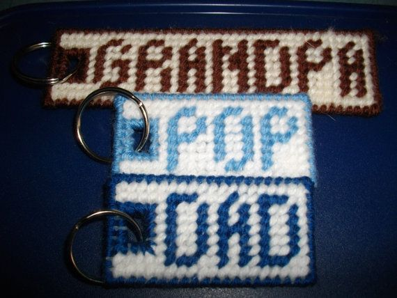 Special Keychains for Men by cecrafts on Etsy, $4.00 - plastic canvas