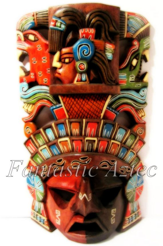 Collection of Five Mayan Warrior Mask Instant by FantasticAztec, $5.00