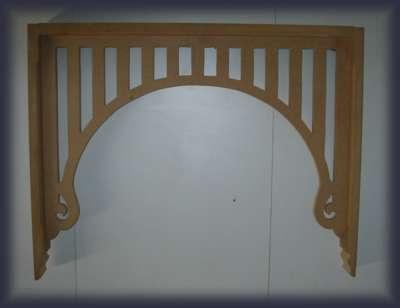 Hallway fretwork Slatted Flat Profile Arch