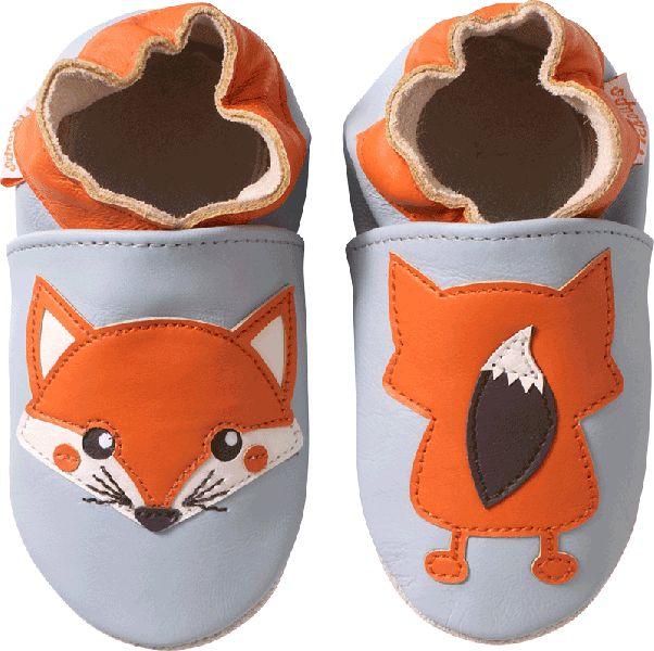 Chaussons bébé cuir souple le renard - chaussons cuir souple - chaussons souples bébé - chaussons en cuir souple – Tichoups.