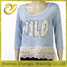 female high quaility round neck crochet hem beaded sweater Best Buy follow this link http://shopingayo.space