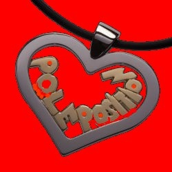 STAINLESS STEEL PENDENT YOU ARE IN POLE POSITION IN MY HEART