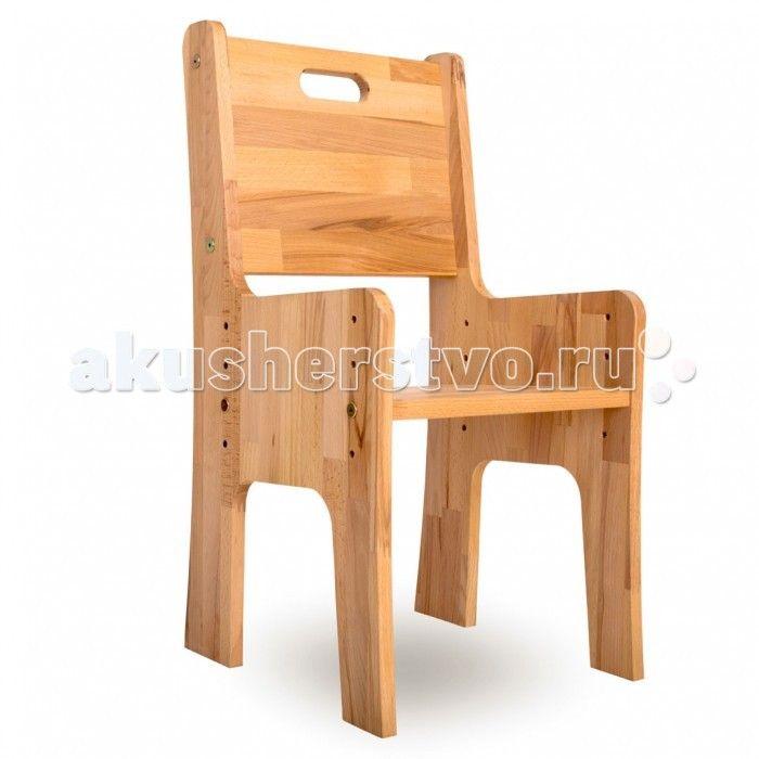 """Абсолют-Мебель Стульчик-растишка Школярик С300  Абсолют-Мебель Стульчик-растишка Школярик С300 из натурального дерева.  Особенности: Формирует правильную осанку в самом раннем возрасте; Регулируемая высота стула от 26 до 38 см в 4-х положениях; Рекомендуемый рост ребенка от 85 до 135 см; Изготовлен из натурального бука с использованием льняного масла; Стульчик-растишка из натурального дерева """"Школярик"""" фирмы Абсолют-мебель — предназначен для правильного формирования осанки ребенка в самом…"""