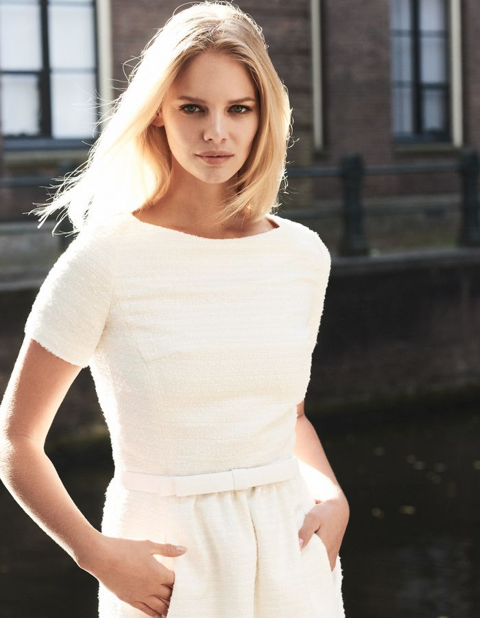 Audrey - ecru - Tweed dress | LaDress