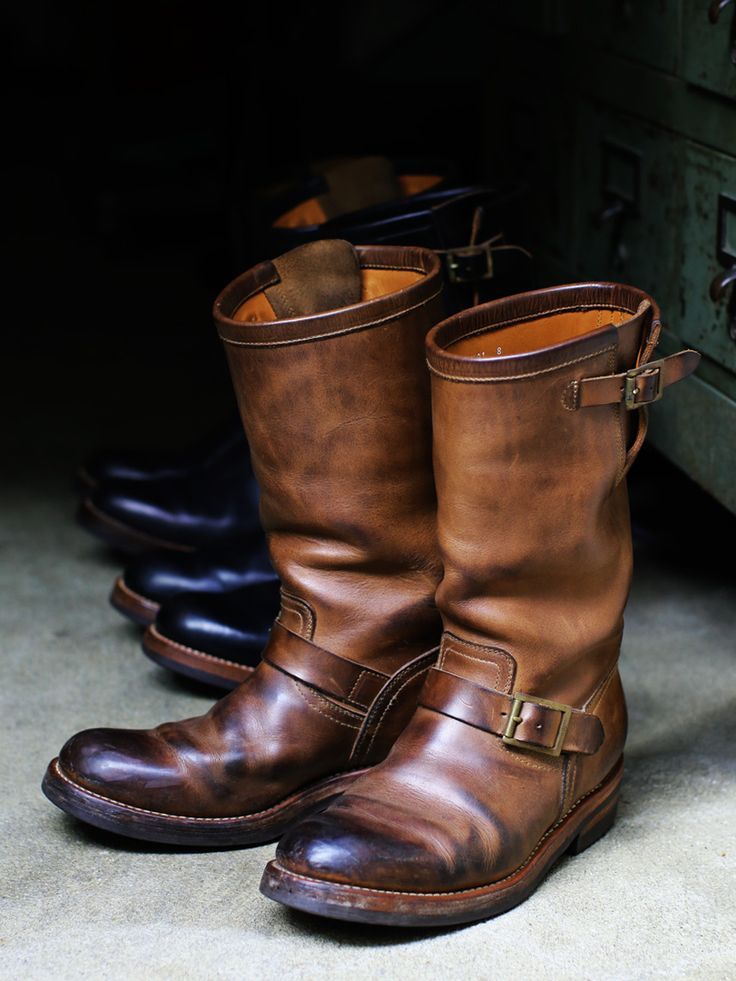 CHROMEXCEL LEATHER ENGINEER BOOTS 1ST MODEL - LEATHER ARTS & CRAFTS MOTO