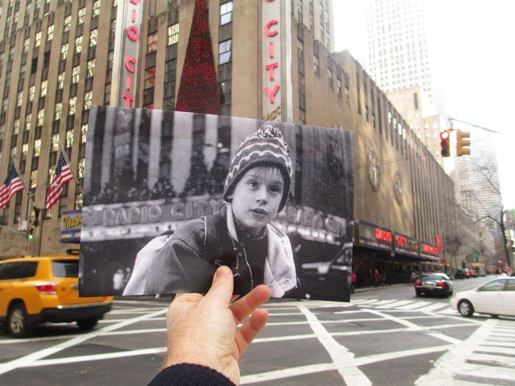 Fotogramas de películas rodadas en Nueva York frente a los escenarios hoy en día.