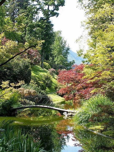 Garden at Villa Melzi in Bellagio, Lake Como, Italy