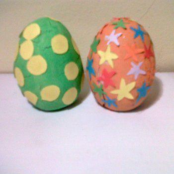 ETAPA PREESQUEMÁTICA: 4_7 años Huevos de pascua de plastilina