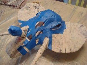 how to make a paper mache elephant head