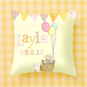 Personalised Balloon Design Cushion Cover
