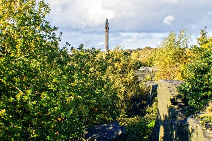 Wainhouse tower is a folly in Halifax, West Yorkshire open to the public on bank holidays. The picture was taken from the rocks below Albert Promenade. Picture Copyright © 2017 Colin Green All Rights Reserved