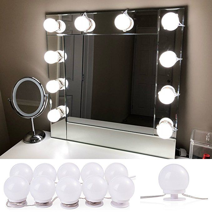 Lvyinyin Vanity Mirror With Lights Hollywood Makeup Lighted Desk