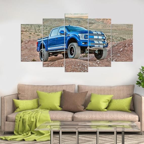 Ford Jeep Car Print on Canvas Picture Wall Art Gift for boyfriend Kids Decor Super Car Apartment Decor Boys Bedroom Decor Garage poster