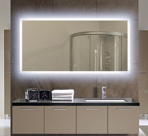 BACKLIT MIRROR RECTANGLE 55 X 28 in Available September 15 th pre order now  Limited. Best 25  Backlit mirror ideas on Pinterest   Backlit bathroom